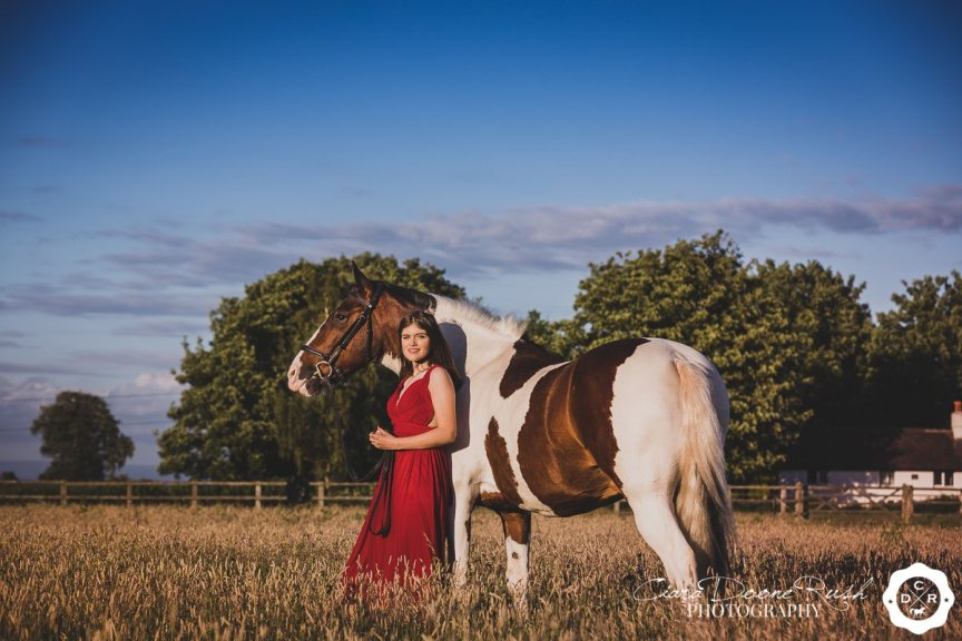 A Prom Dress Horse And Rider Photo Shoot