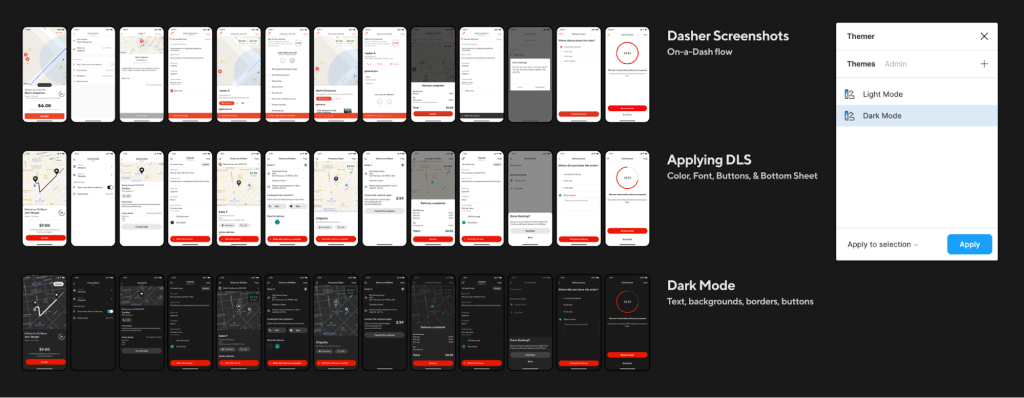 a visual example of our dasher app design audit