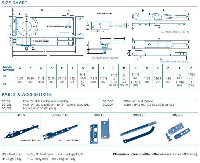 Door Parts Commercial Diagram
