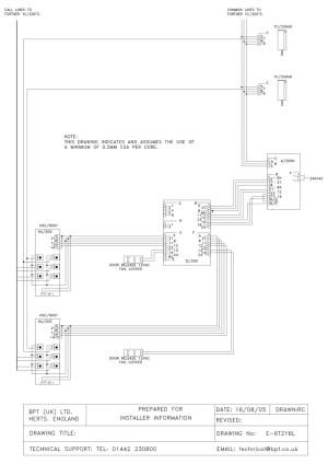bpt wiring diagrams  system 200