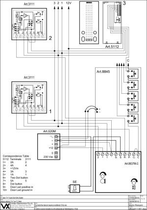 Videx 800 Series Wiring Diagrams