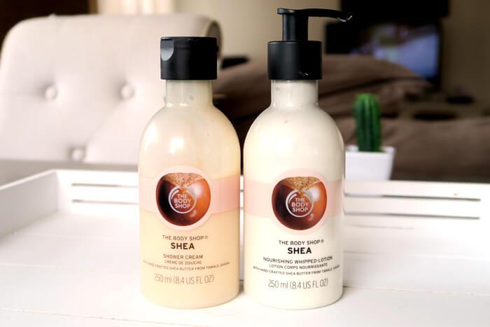 the body shop shea bodylotion shower cream