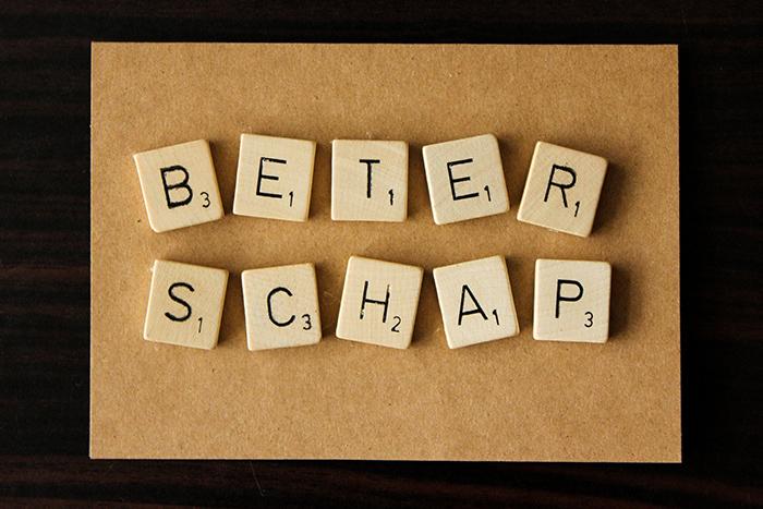 DIY - 3D kaarten met Scrabble letters