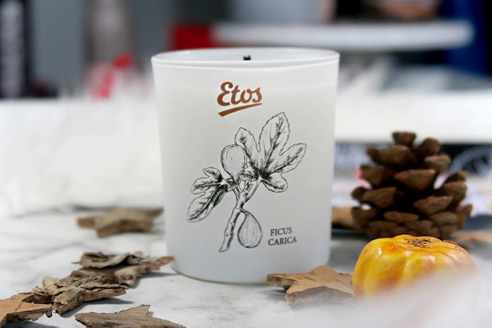 etos botanical boost rosemary & fig kaars