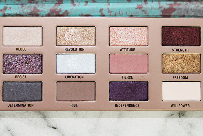 l.o.v. the matte x metallic eyeshadow palette close up