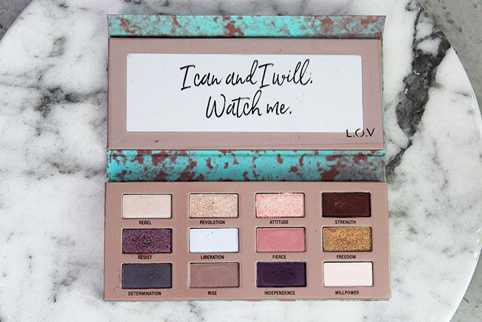 l.o.v. the matte x metallic eyeshadow palette