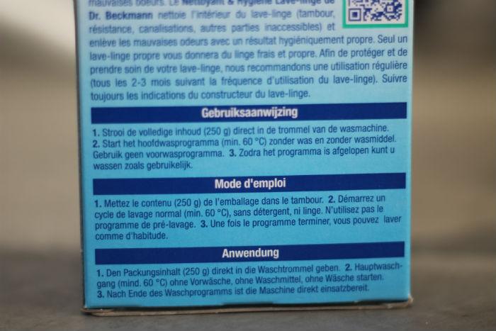 Dr. Beckmann wasmachine hygiene-reiniger