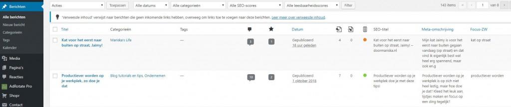 yoast seo premium intern linking verweesde inhoud