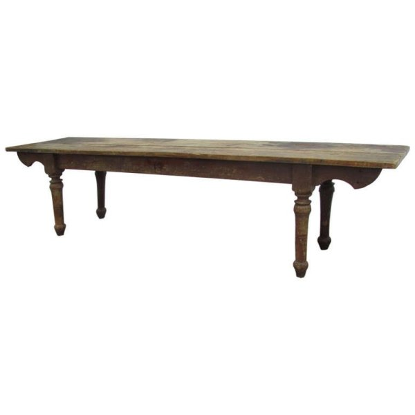 Rare American Pine Harvest Work Table circa 1850
