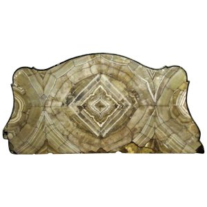 Early Antique Agate and Green Stone Serpentine Table Top