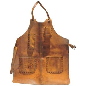 Leather Metal Sculptor's Apron