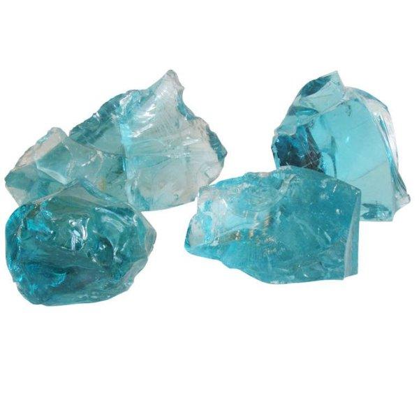 Large Aqua Glass Cullets