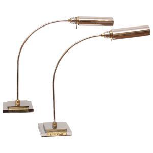 Large Chrome & Brass Arc Lamps for Lancome Paris