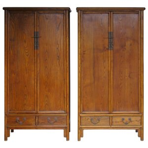 Antique 19th Century Asian Hardwood Cabinets