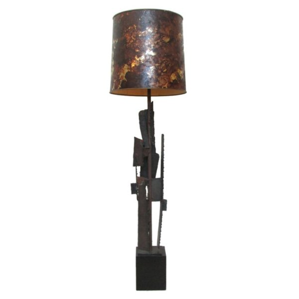 Harry Balmer Brutalist Iron Table Lamp