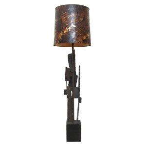 Harry Balmer Brutalist Iron Table Lamp