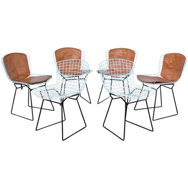 Six Early Harry Bertoia Chairs for Knoll Associates circa 1950's