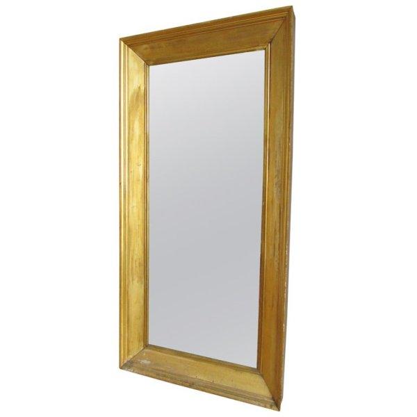 Rare American Empire Giltwood Hall Mirror