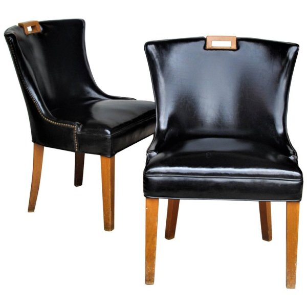 Patent Leather Slipper Chairs
