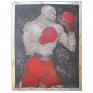Big Bold Painting of a Boxer