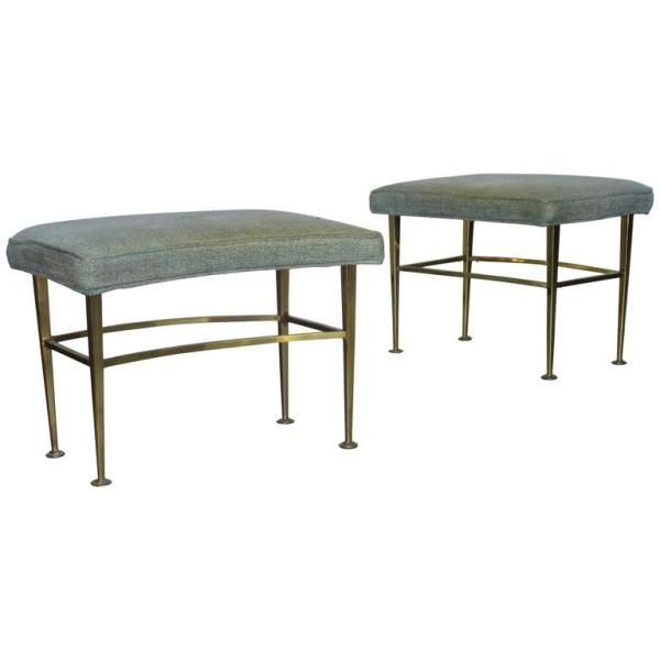 Curved Brass Benches