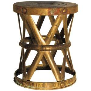 Brass X Drum Table