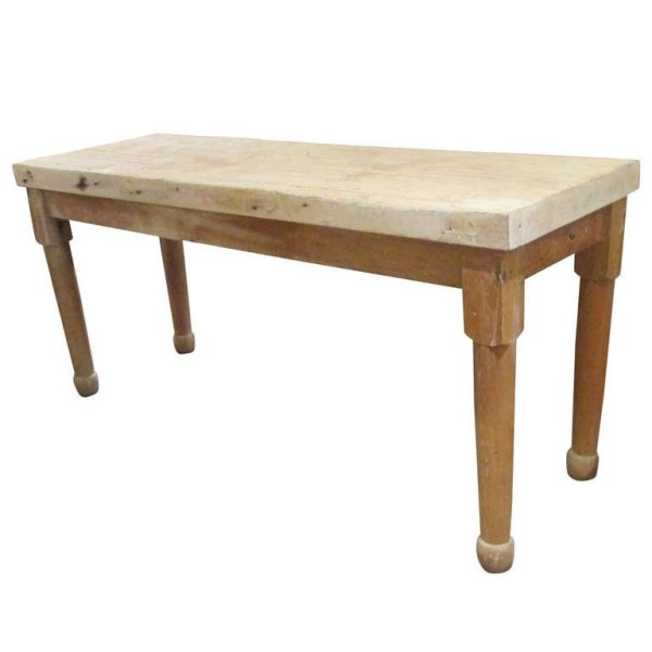 Butcher Block Work Table circa 1900