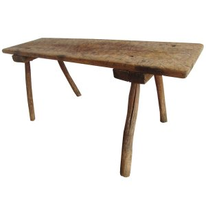 19th Century American Primitive Butchers Table