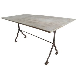 Antique Cast Iron Base Work Table