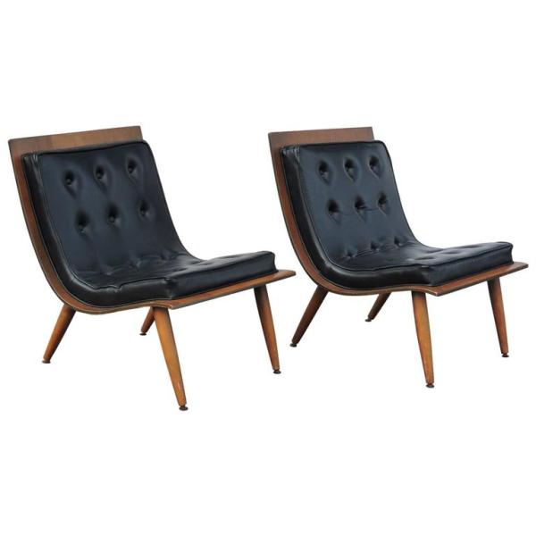 Mid Century Scoop Chairs by Carter