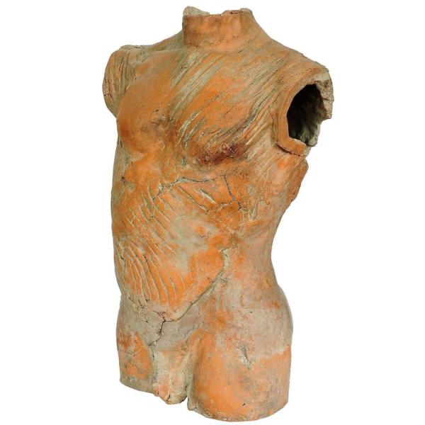 Large Ceramic Anatomical Sculpture Male Torso