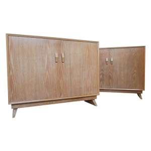 1940's Modernist Cerused Cabinets