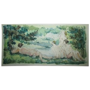 Cezanne - 15 Watercolor Prints in Facsimile - Limited Ed. 72/225