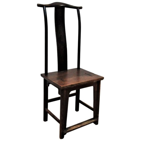Early Antique Chinese Yoke Back Chair