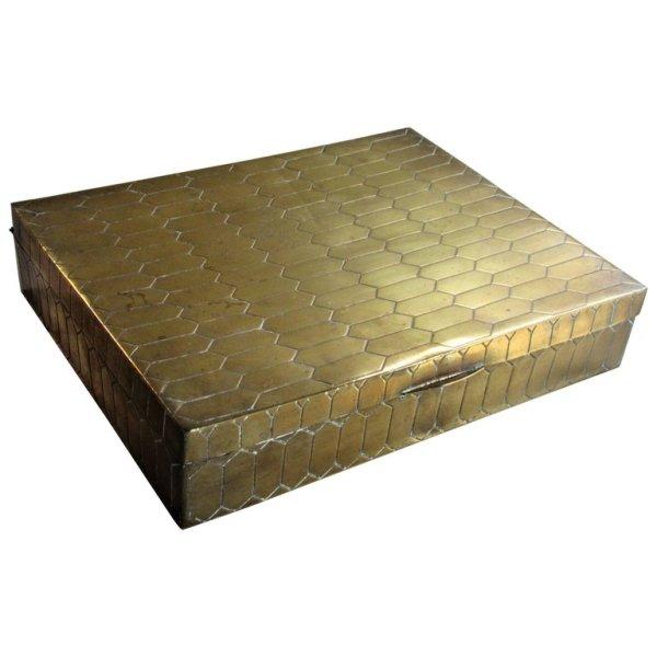 Modernist Italian Brass Box in the style of Gabriela Crespi