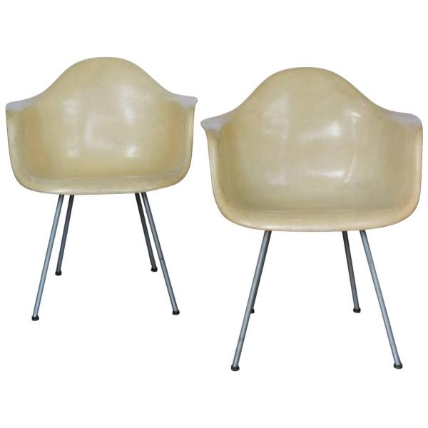 Eames 1st Generation Rope Edge Armchairs by Zenith Plastics