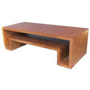 Faux Parchment Coffee Table