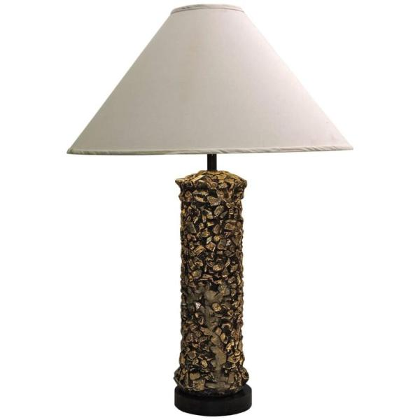 Gilded Faux Pebbles Lamp