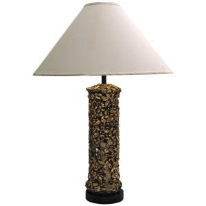 Gilded Faux Pebbles Lamp