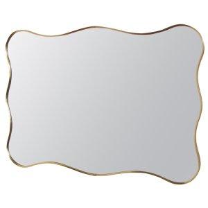 Italian Sculptural Brass Mirror Gio Ponti