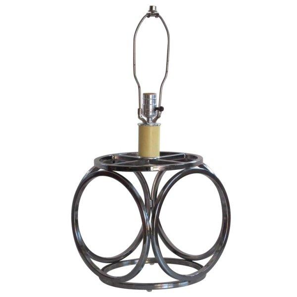 Geodesic Shape Chrome Lamp