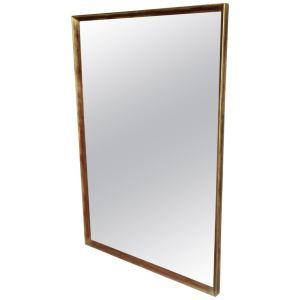 Minimalist Rectangular Giltwood Frame Wall Mirror