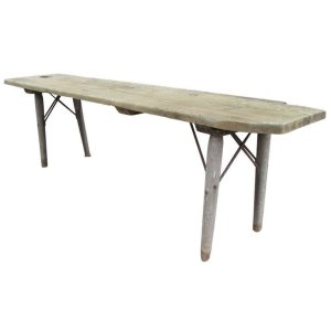 Rare American Primitive Harvest Sorting Table