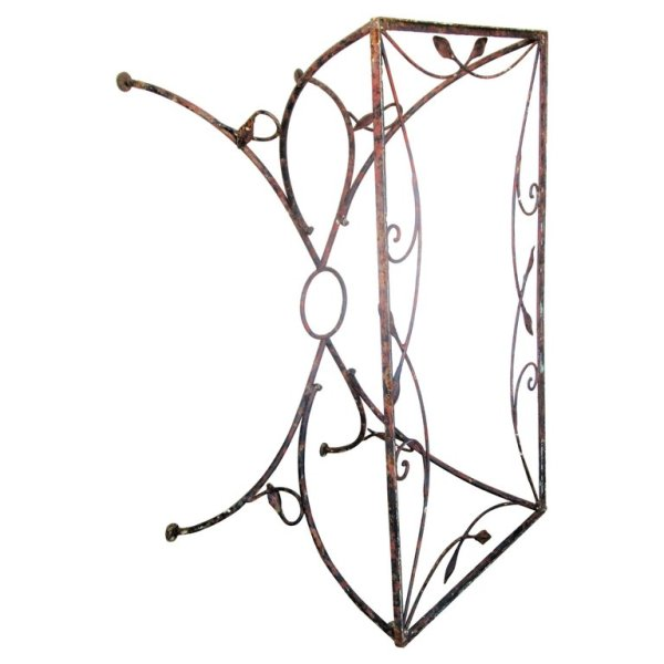 Naturalistic Leaf and Vine Wrought Iron Table