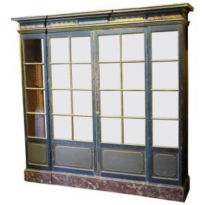 Antique Italian Architectural Bibliotheque Cabinet