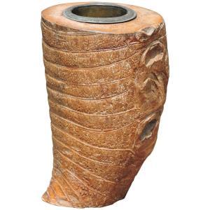 Antique Japanese Large Bamboo Root Brush Pot