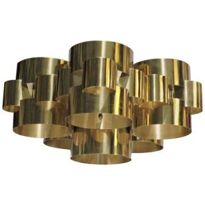 Brass Cloud Chandelier by C. Jere