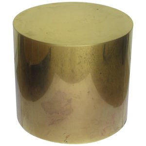 1970's Brass Cyllinder Drum Table by C. Jere'