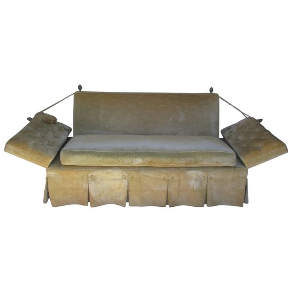 Classic Knole Drop Arm Sofa 1940's