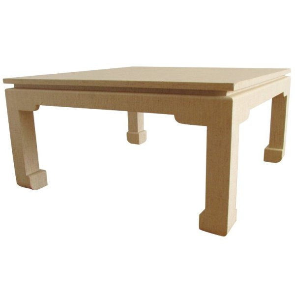 Karl Springer style Lacquered Linen Coffee Table